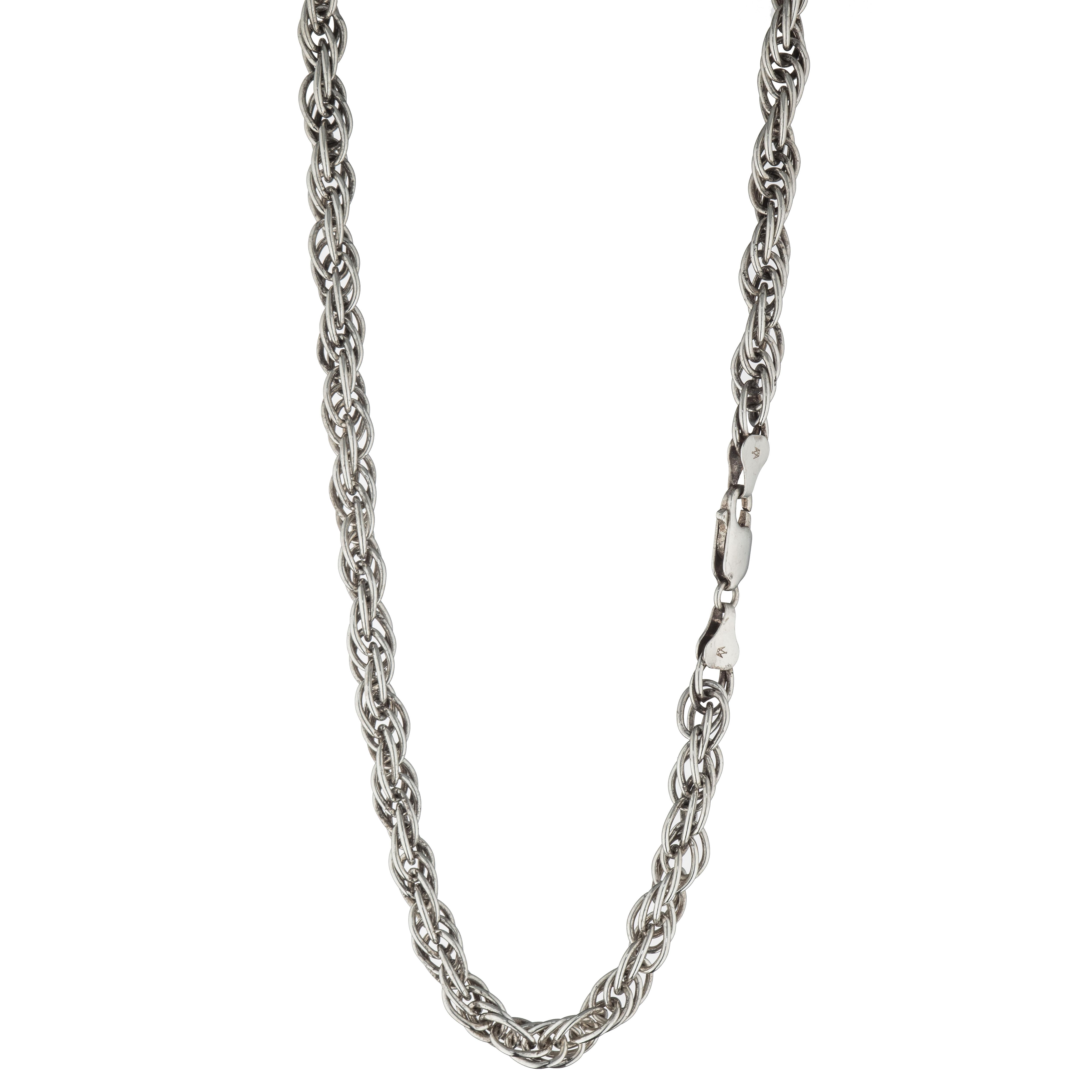 Cordel halskjede 40 cm, sterling sølv