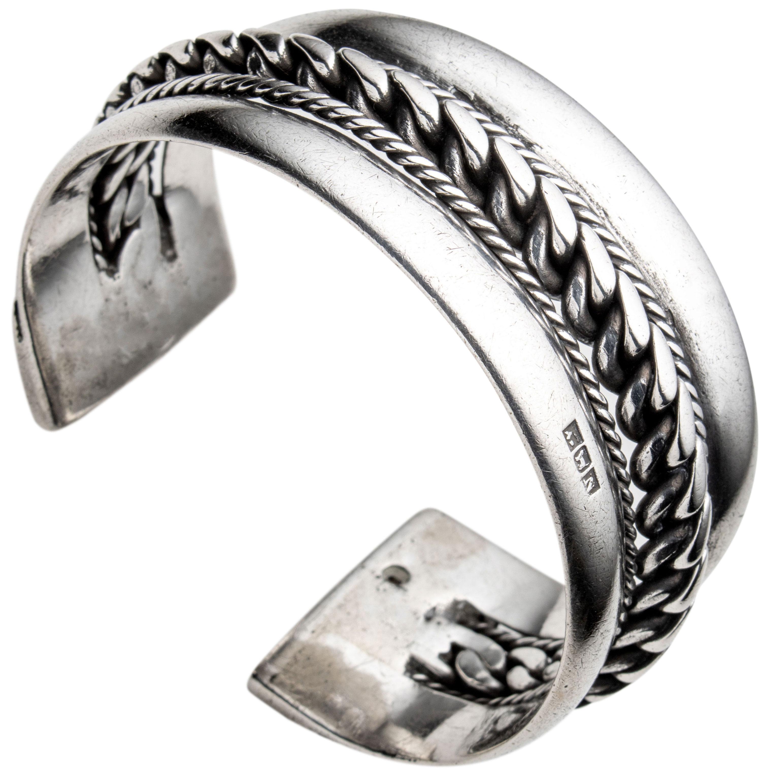 Beduin armbånd, sølv