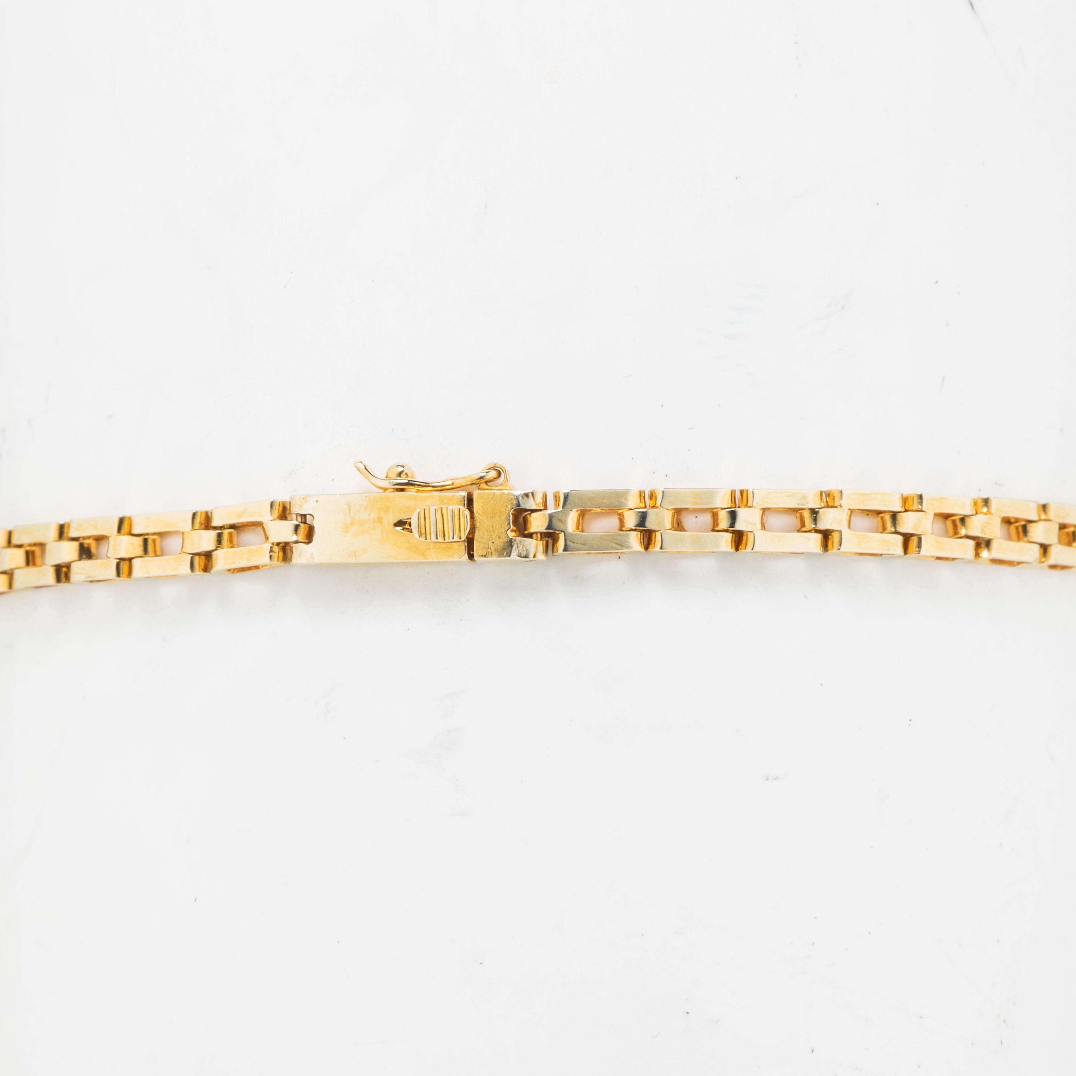 Armbånd, gult gull, diamanter (0,45 ct.)