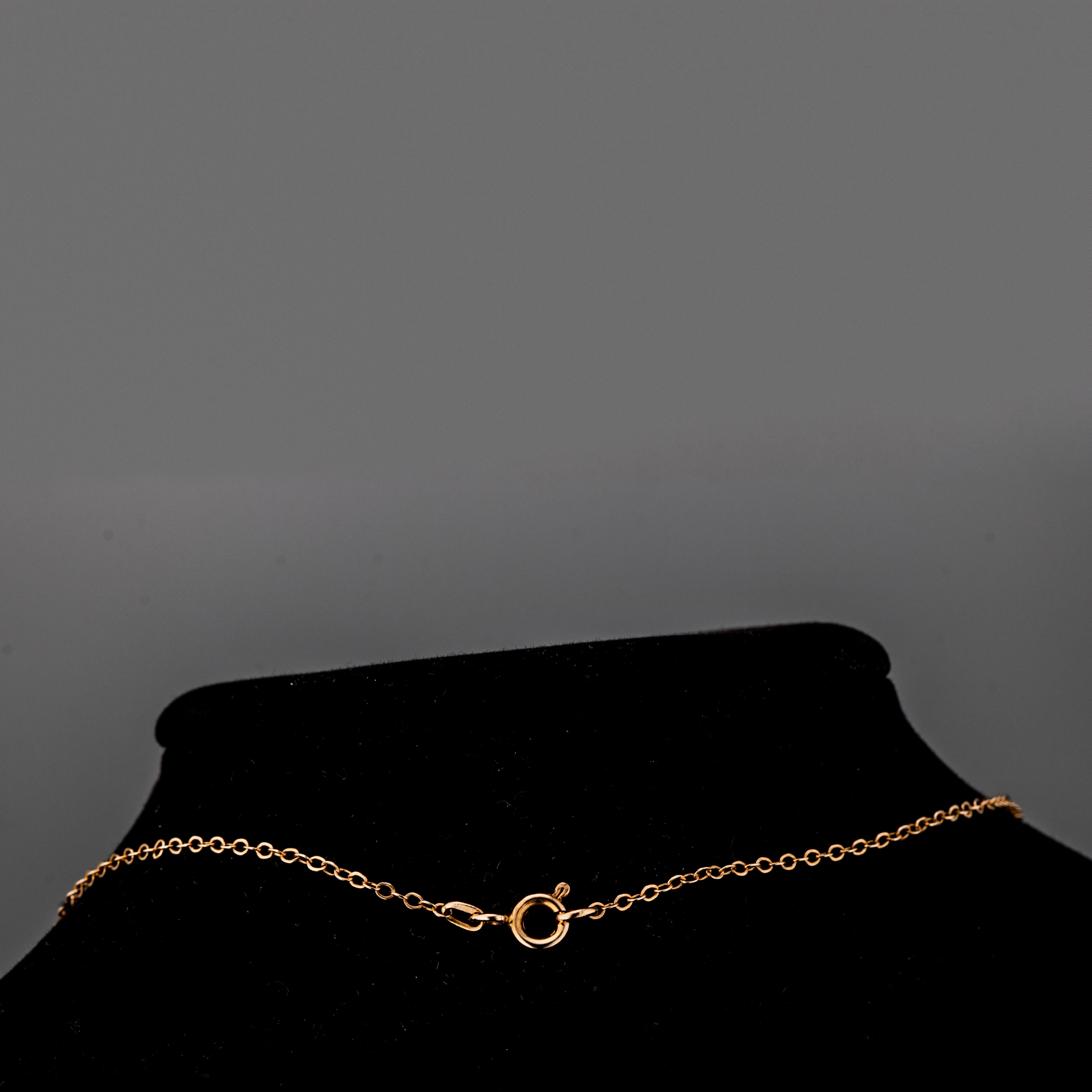 Anker halskjede, gult gull