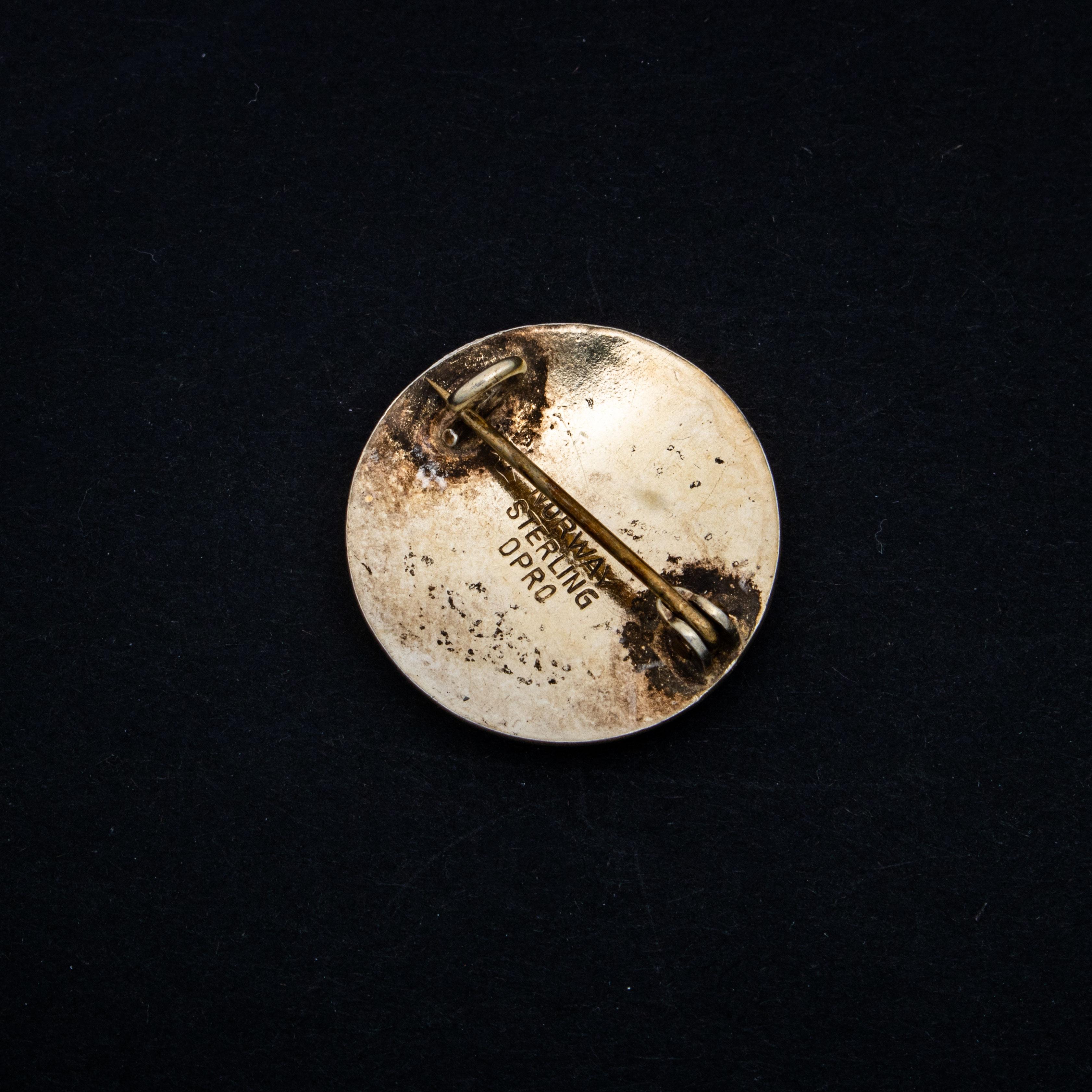 Opro brosje, sterling sølv, emalje