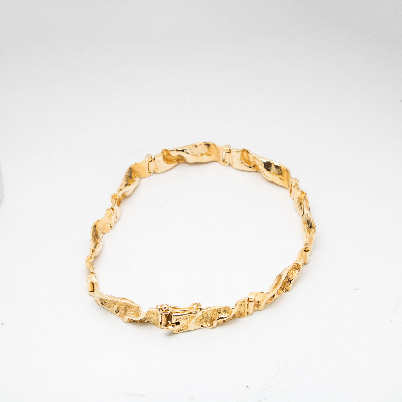 Armbånd, gult gull