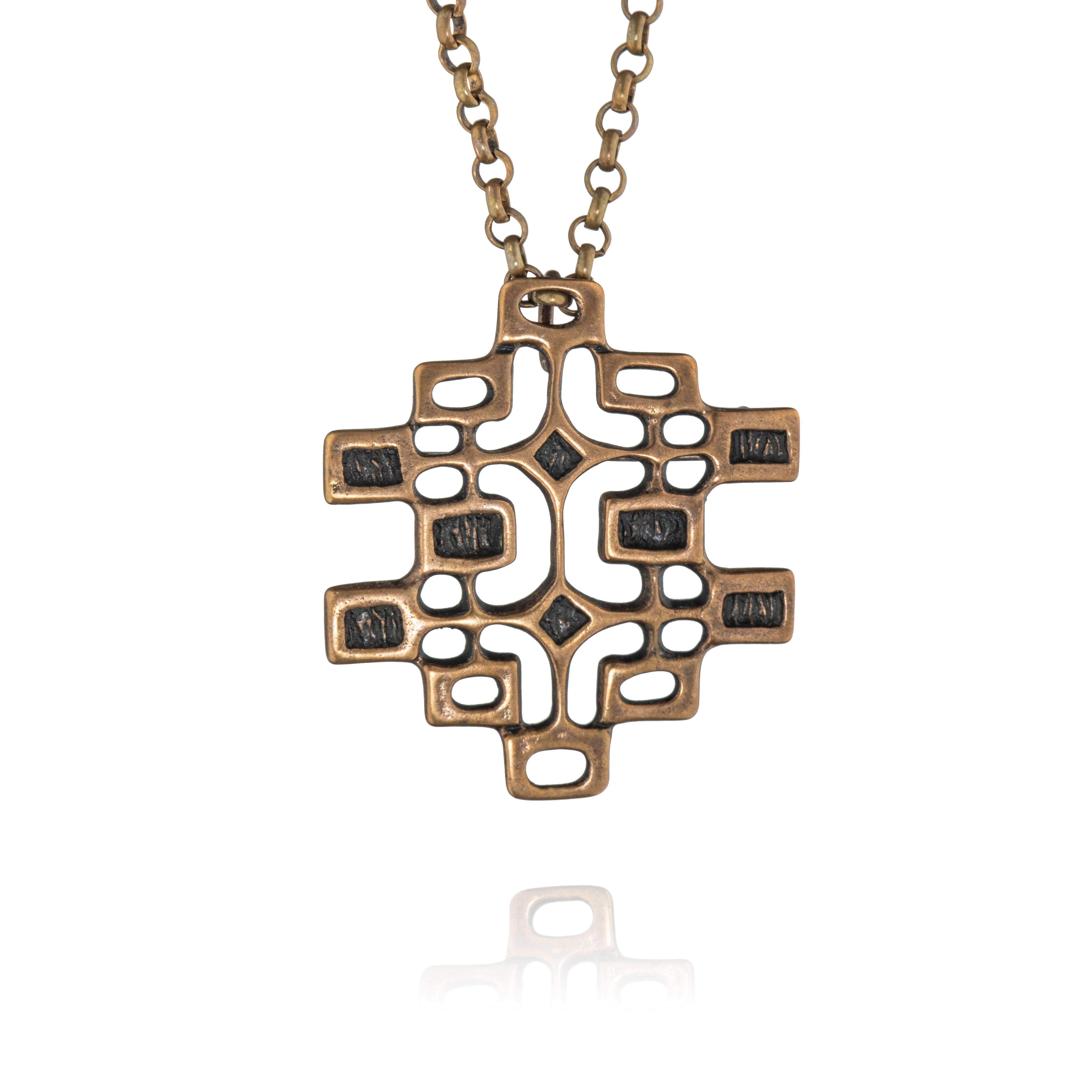 Unn Tangerud halssmykke, bronse