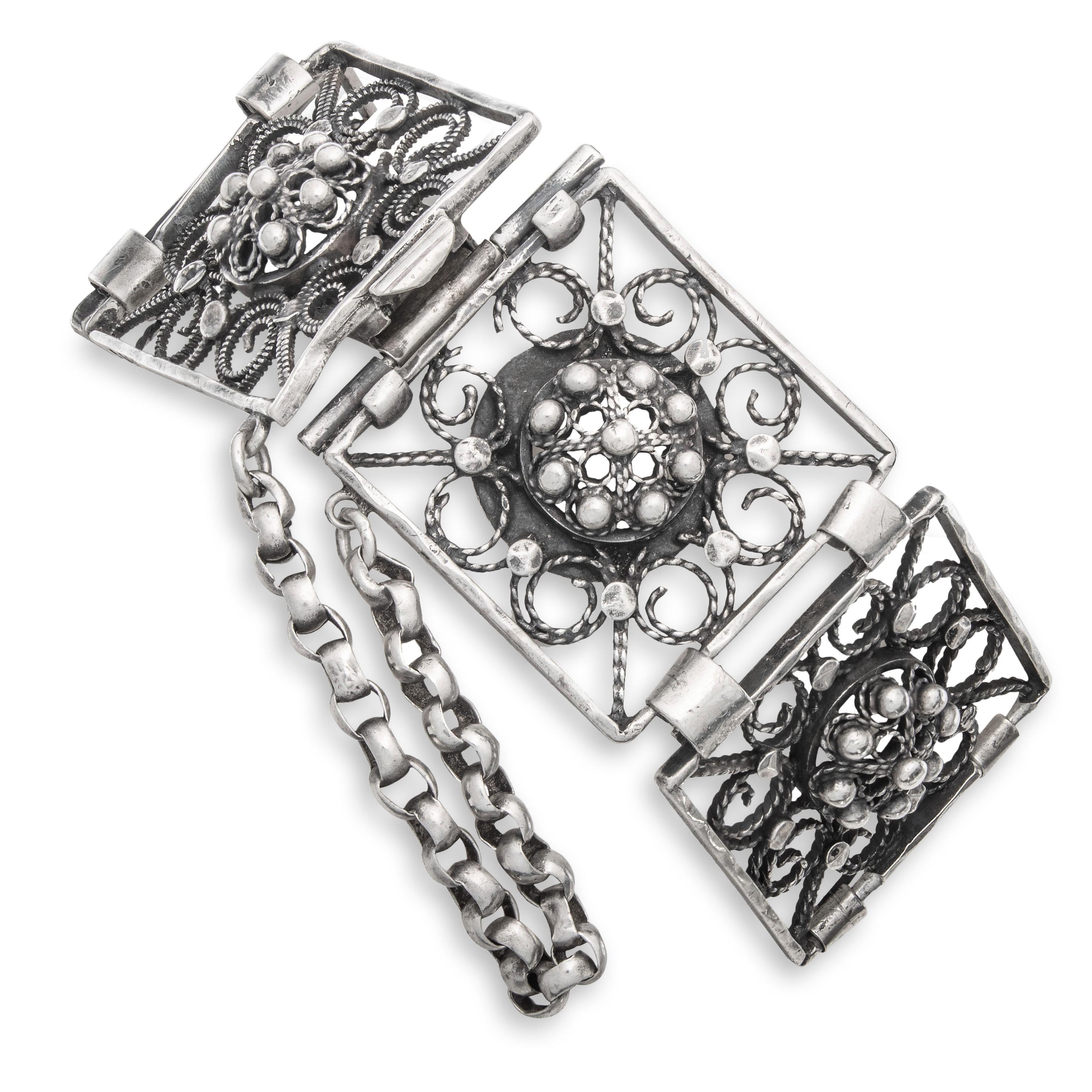 Filigran armbånd, sølv