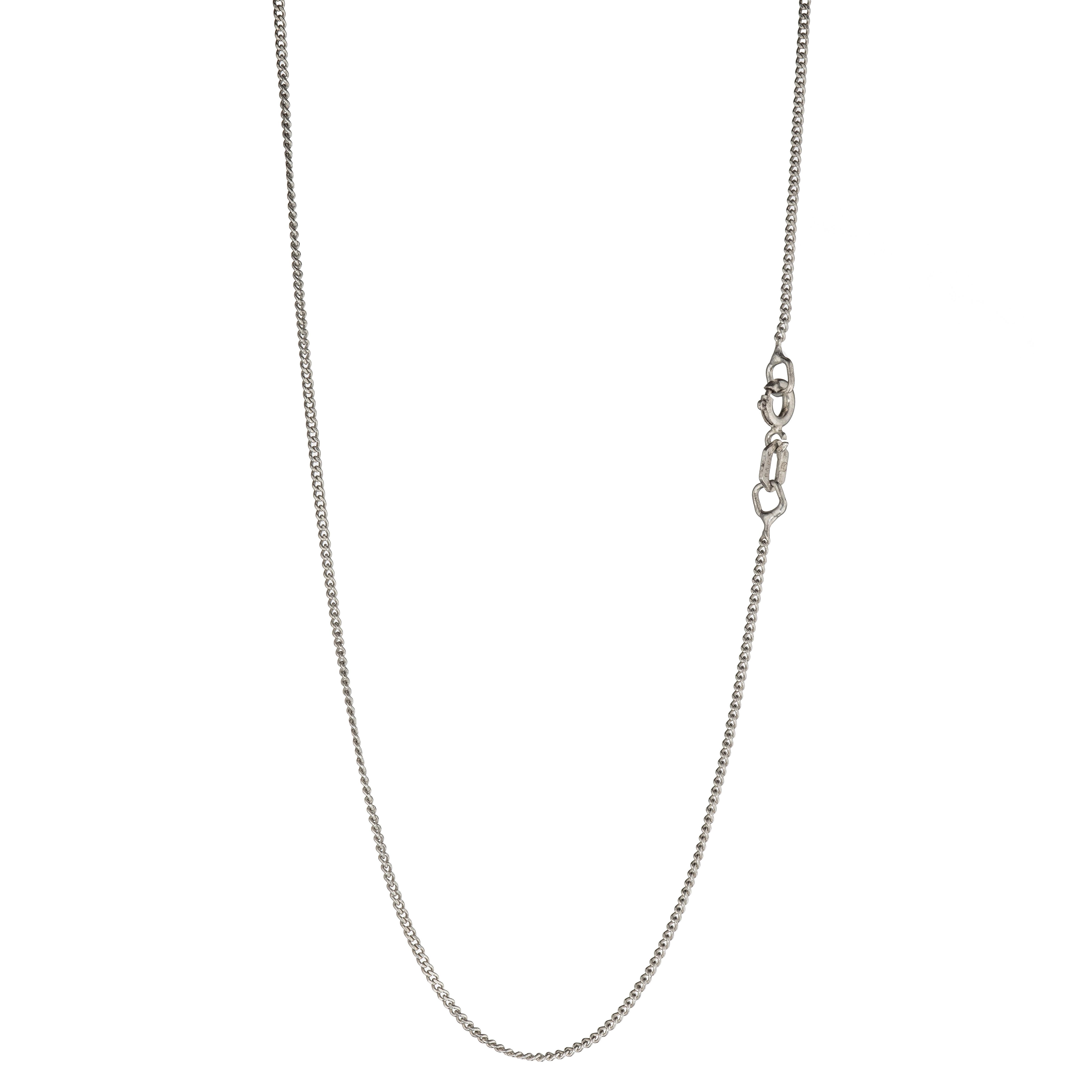 Panser kjede 33,5 cm, sølv