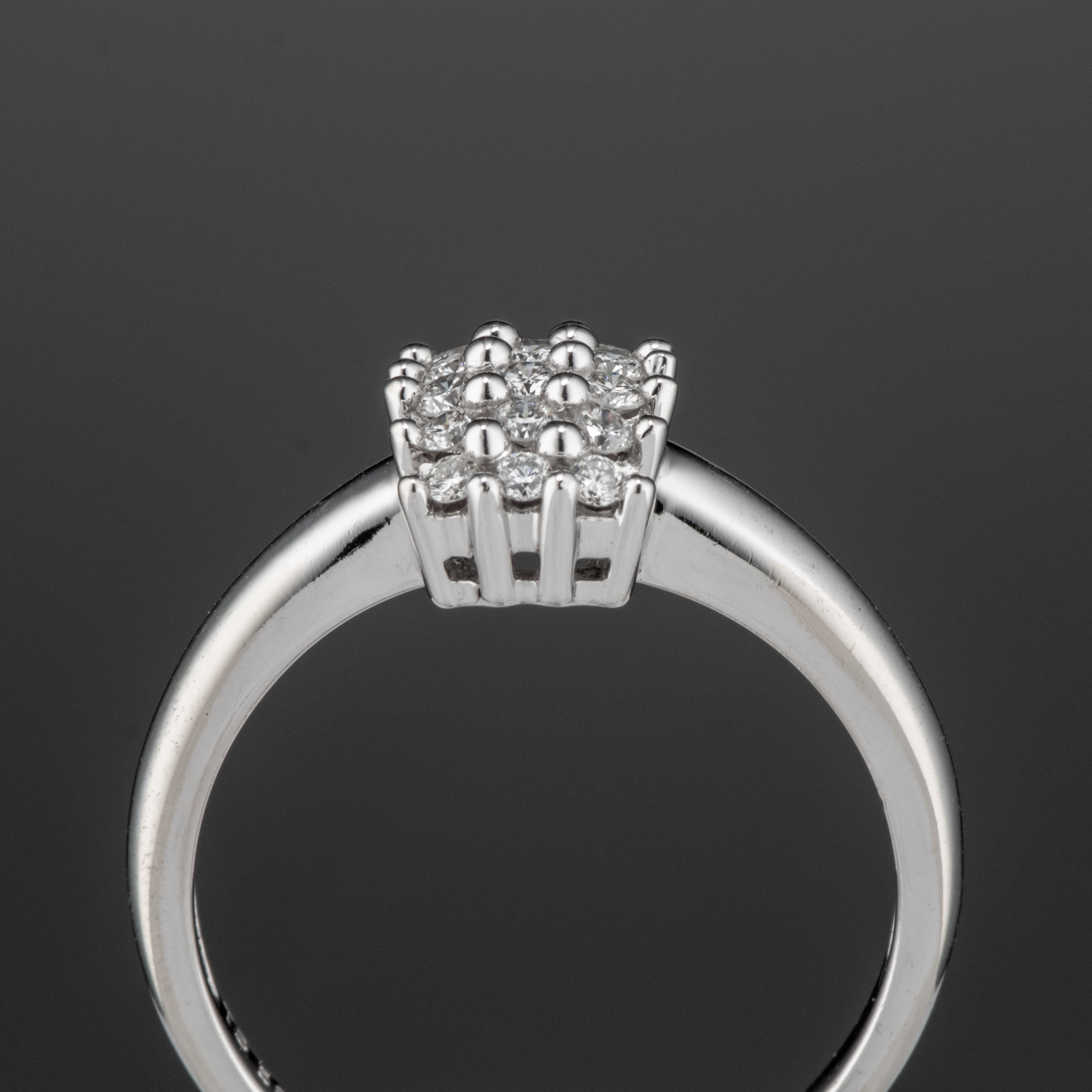 Ring, hvitt gull, diamanter (0,288 ct.)