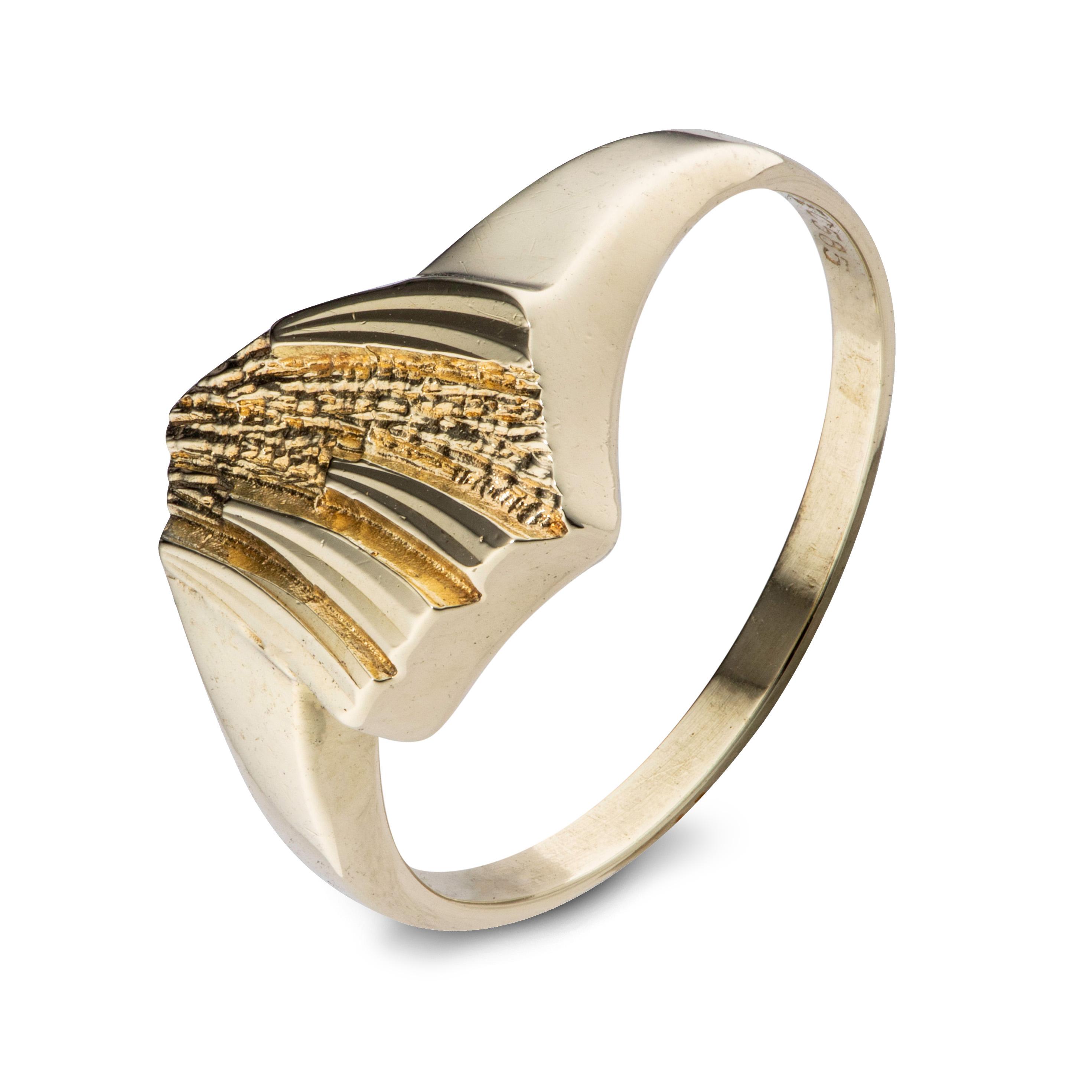 Einar Christophersen ring, gult gull