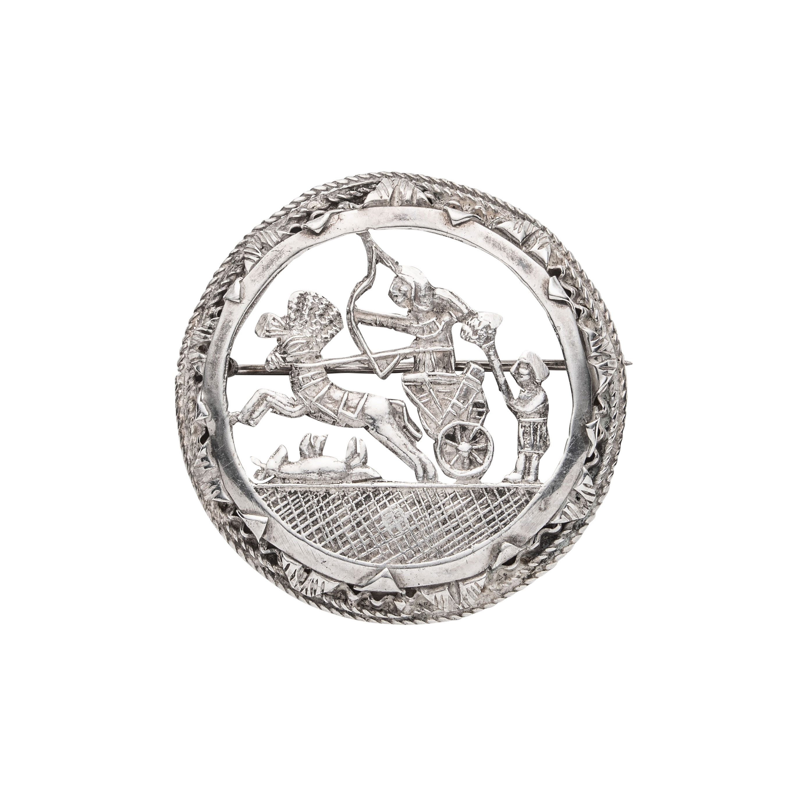 Egyptisk brosje, sølv