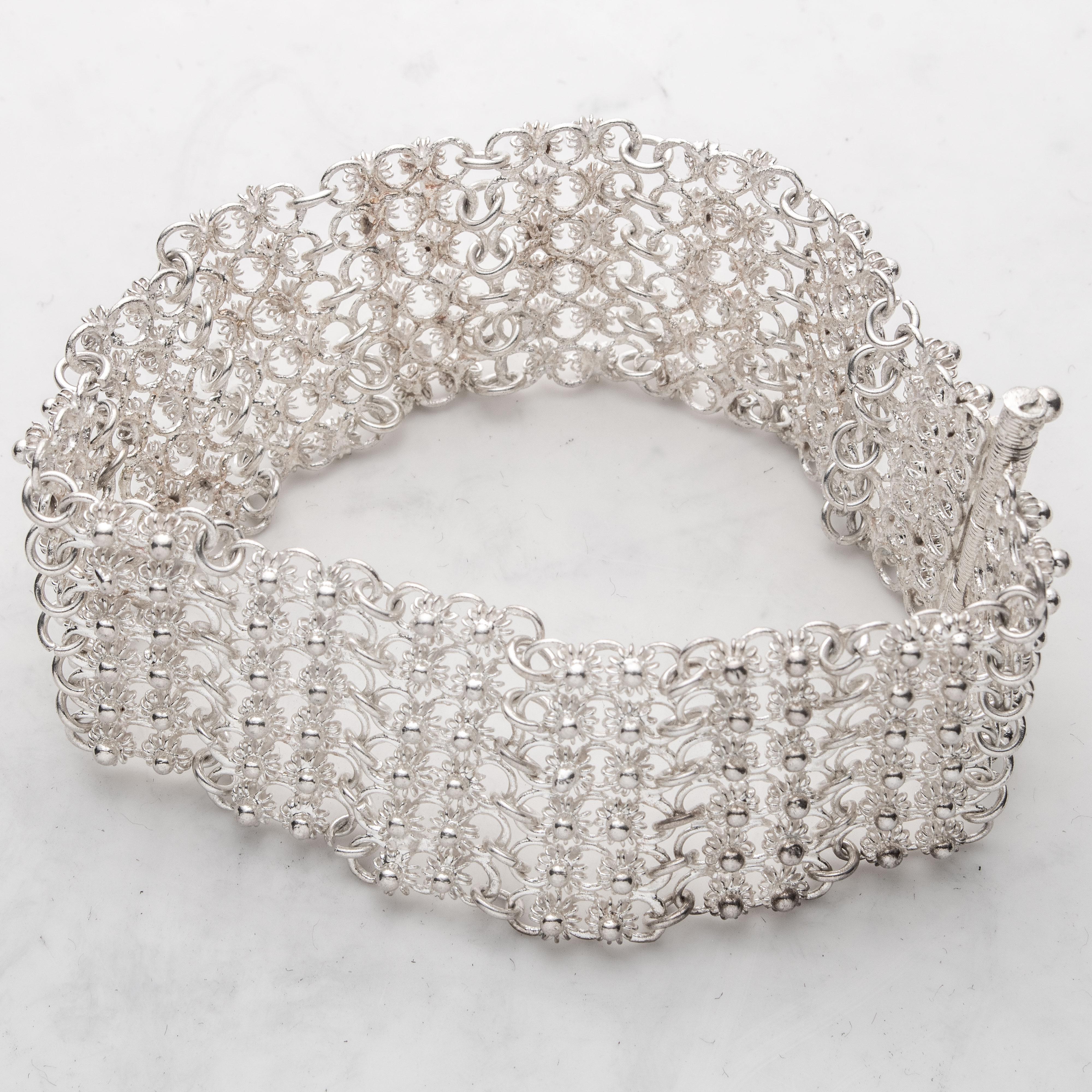 Habbiyat armbånd, sølv
