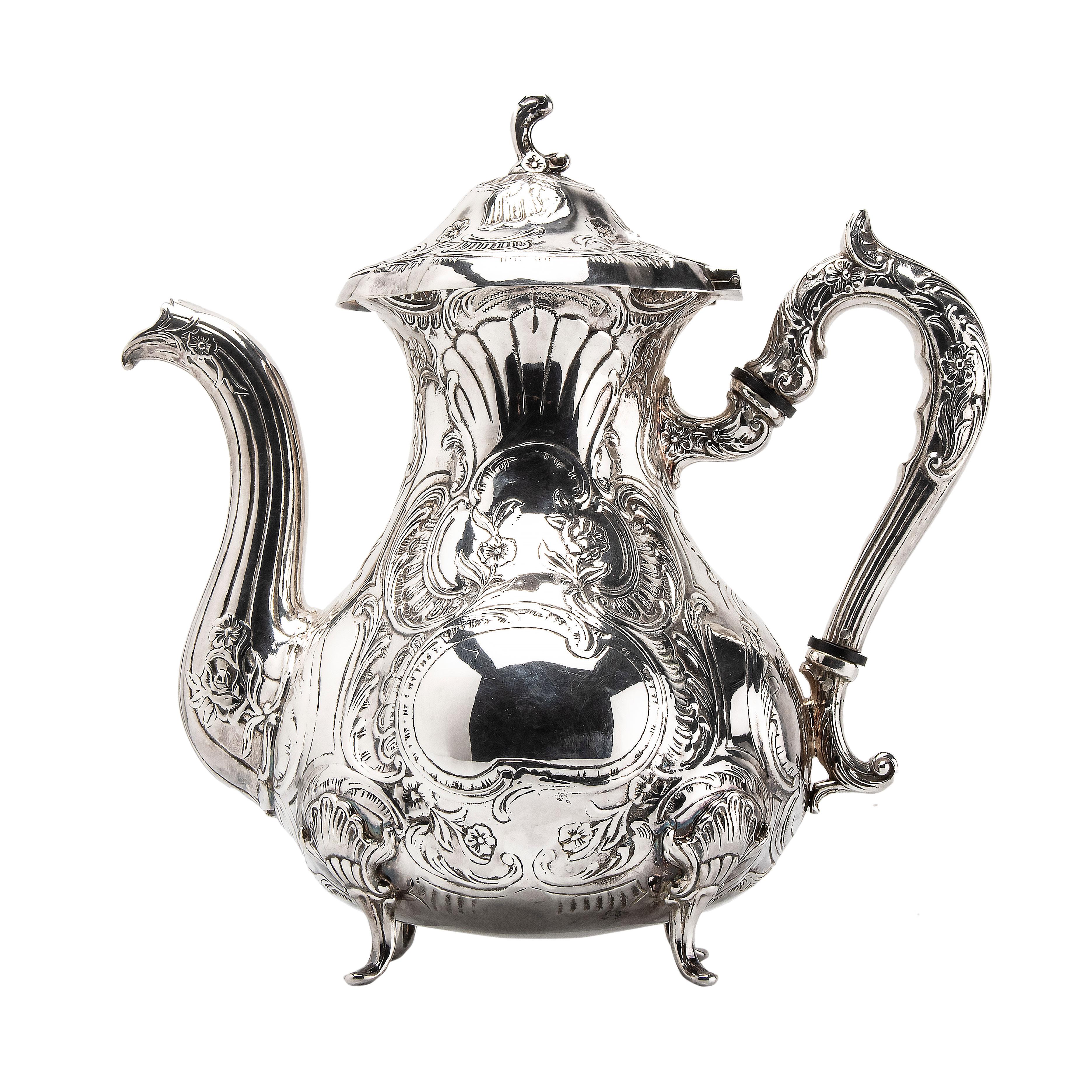 Gewe, kaffekanne, sølv