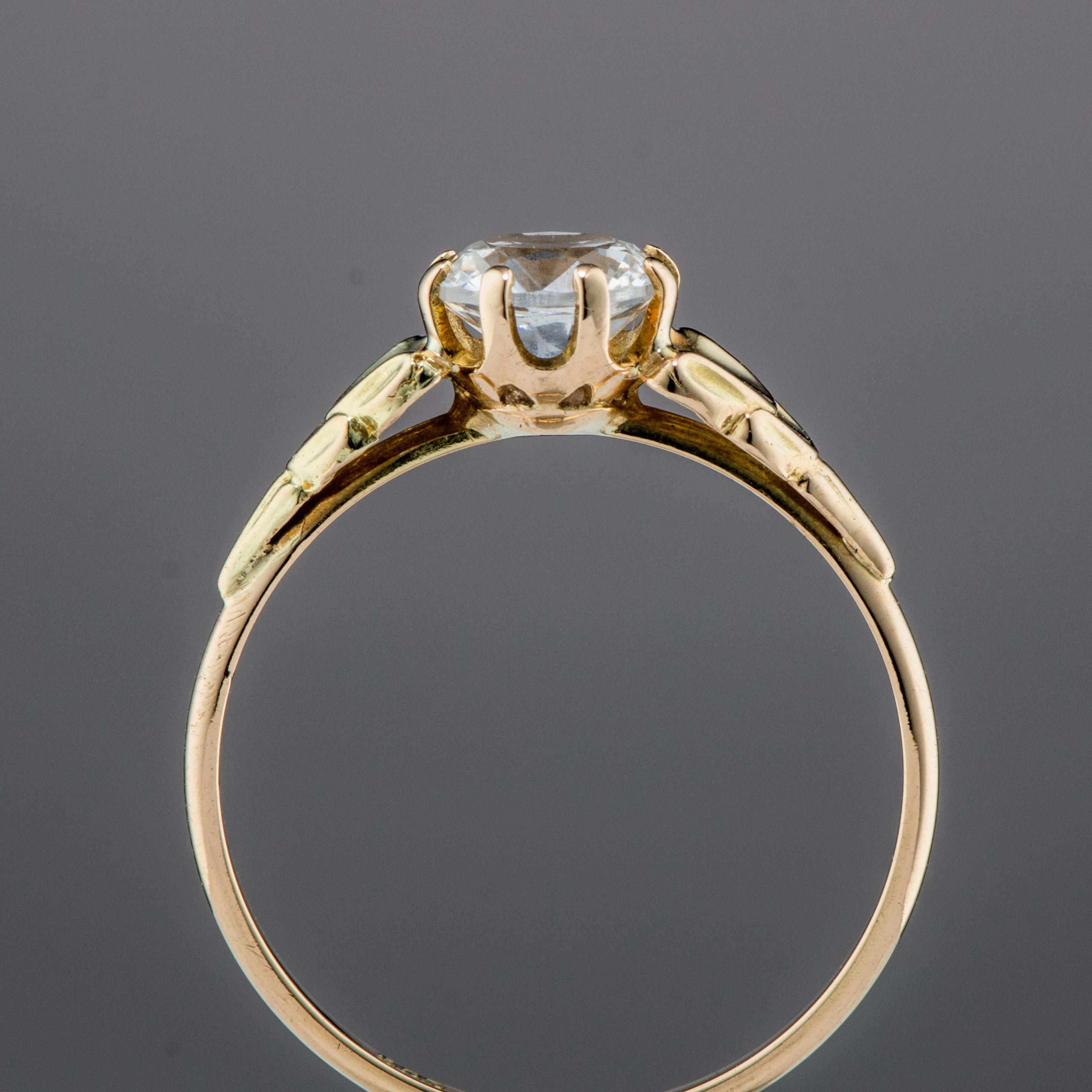 Einar Christophersen ring, gult gull, topas