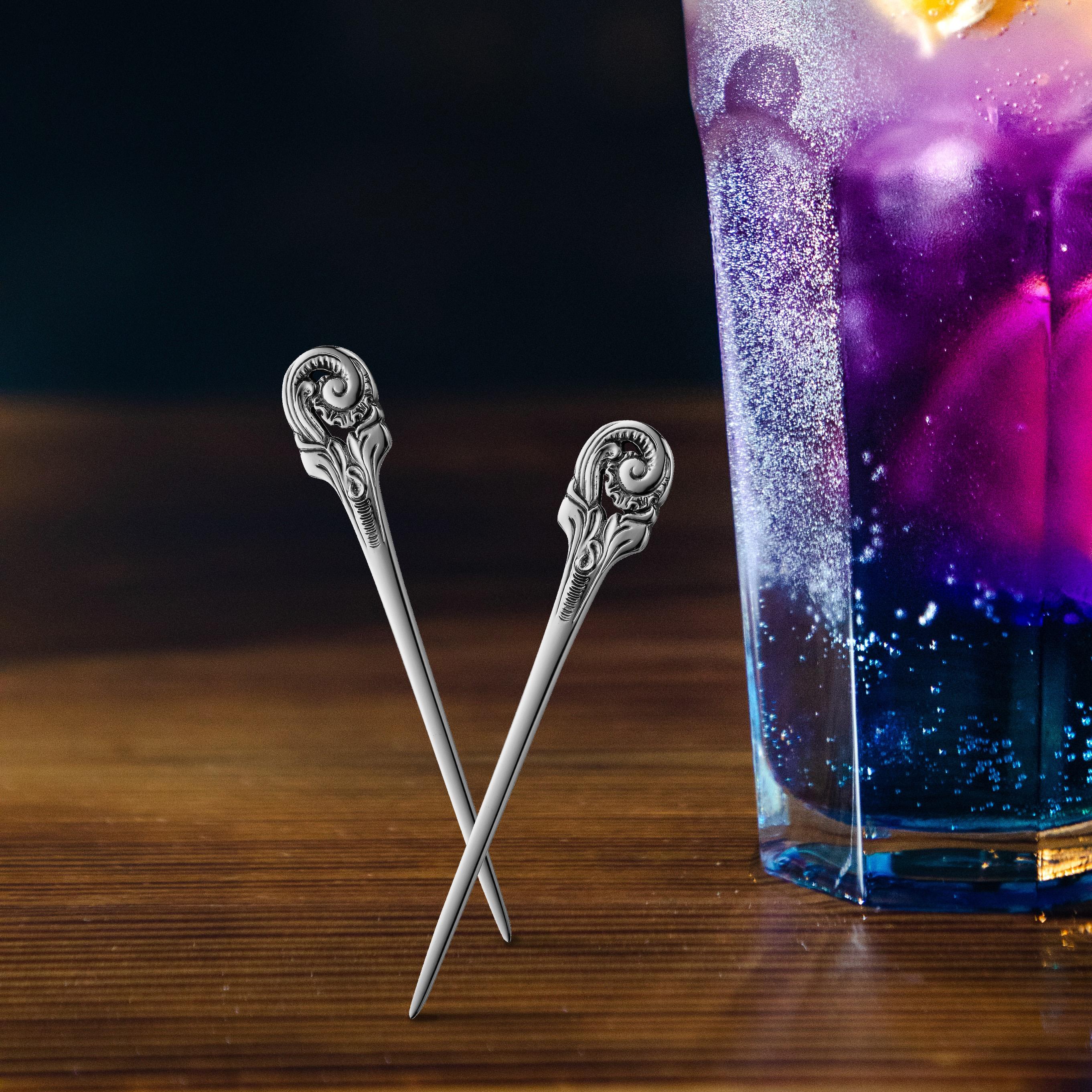 Telesølv par cocktail spyd