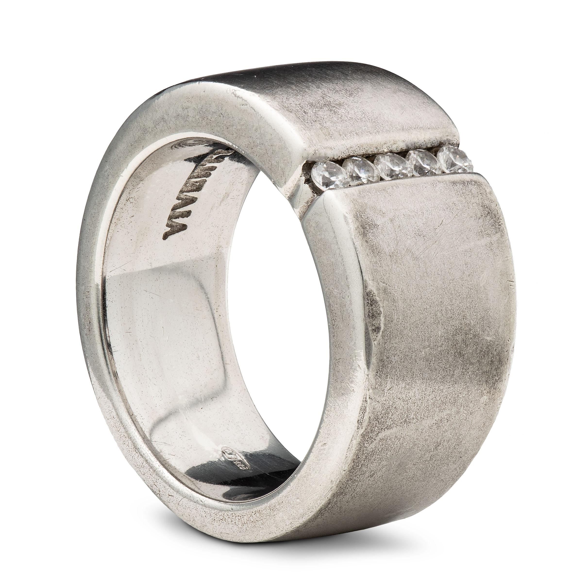 Viventy ring, sterling sølv, kubisk zirkonia