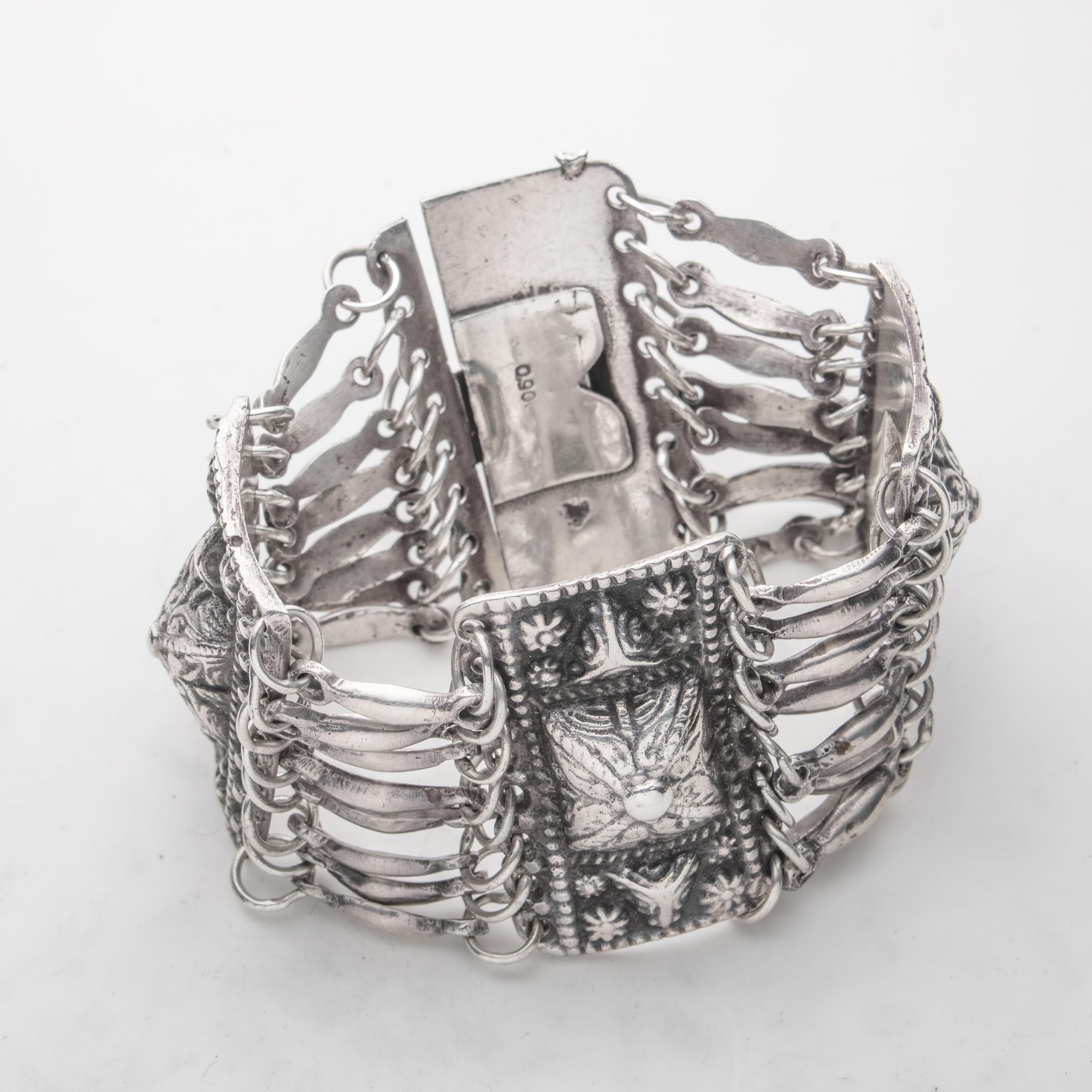 Meksikansk armbånd, sølv