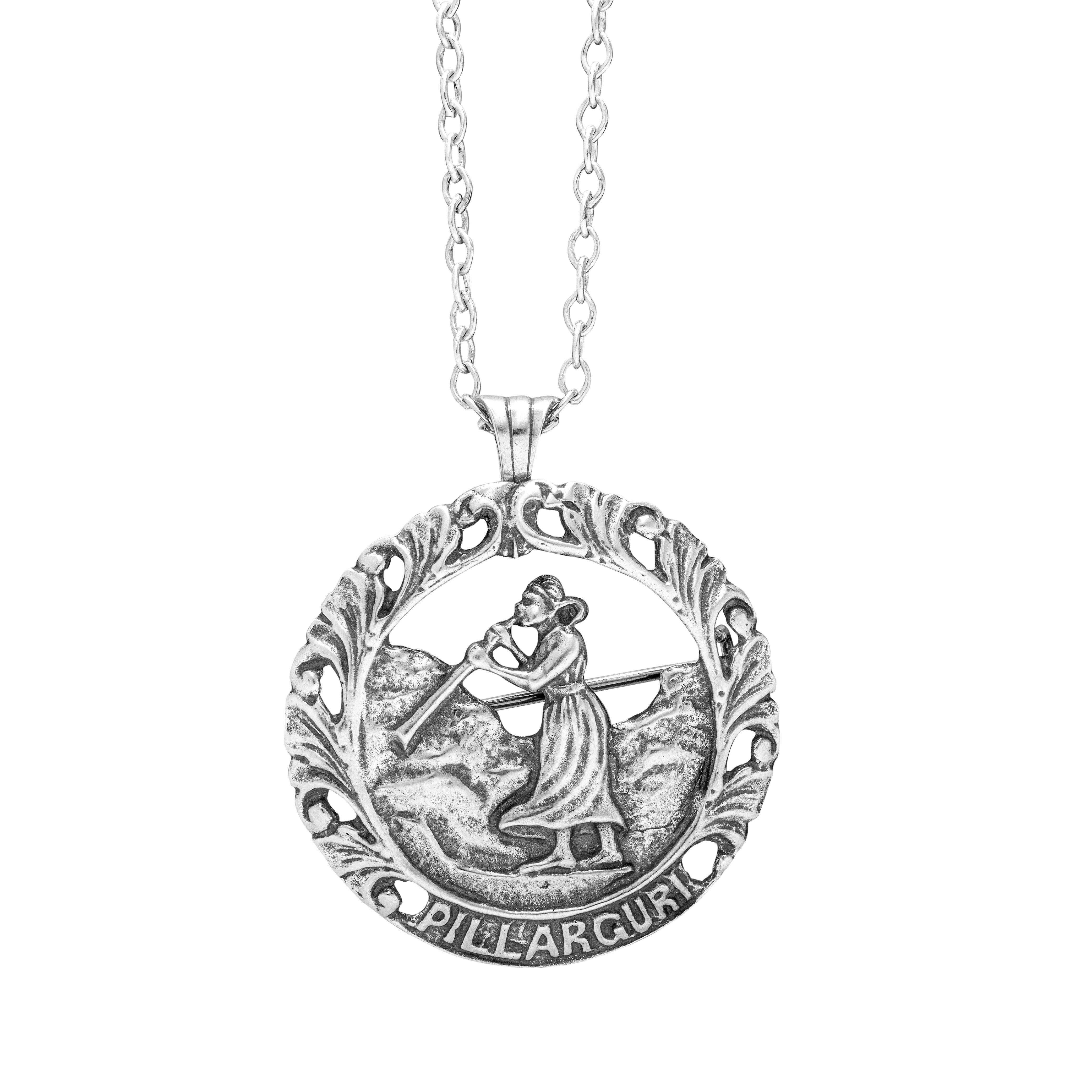 Pillarguri anheng / nål, sølv
