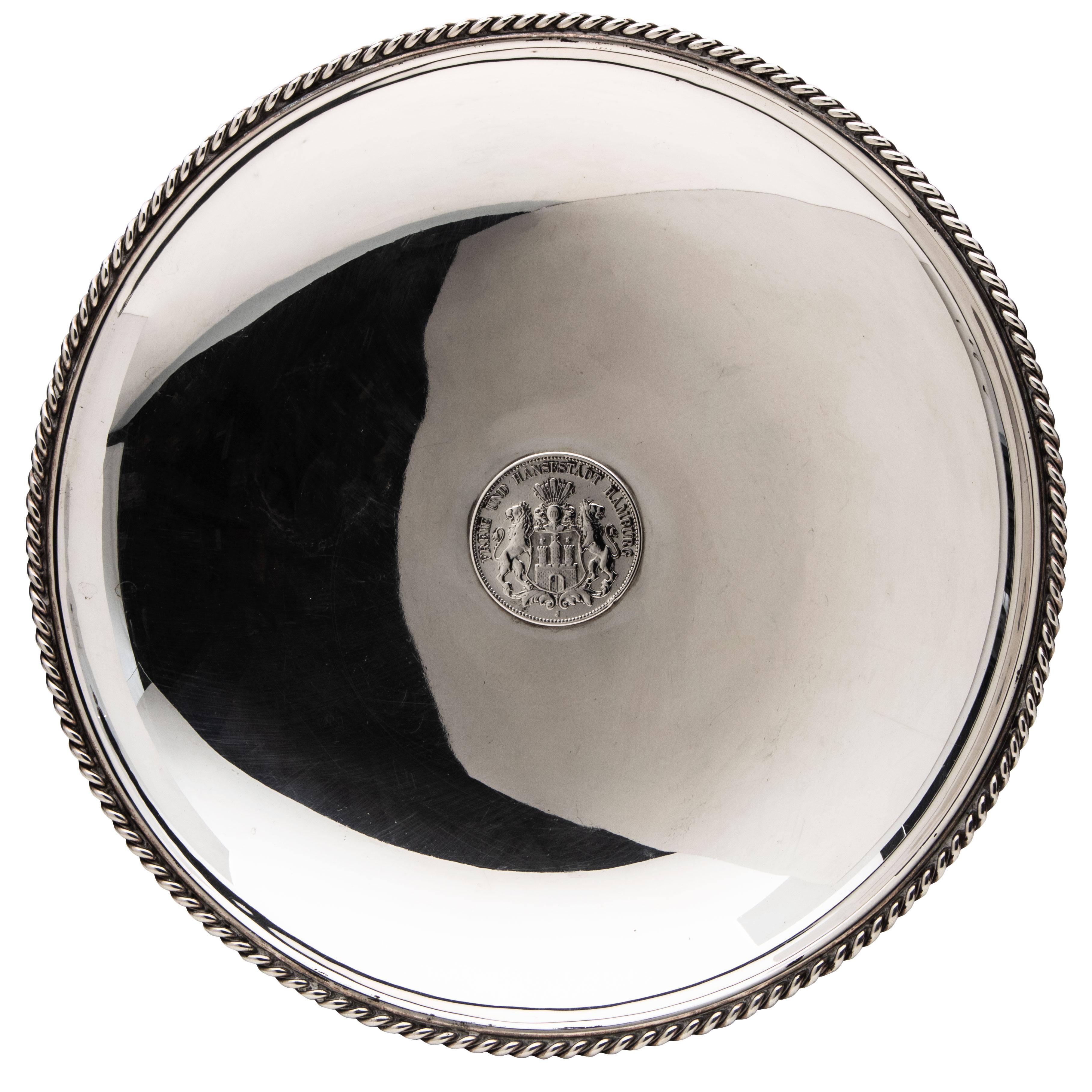 Jakob Grimminger, fat med mynt, sølv