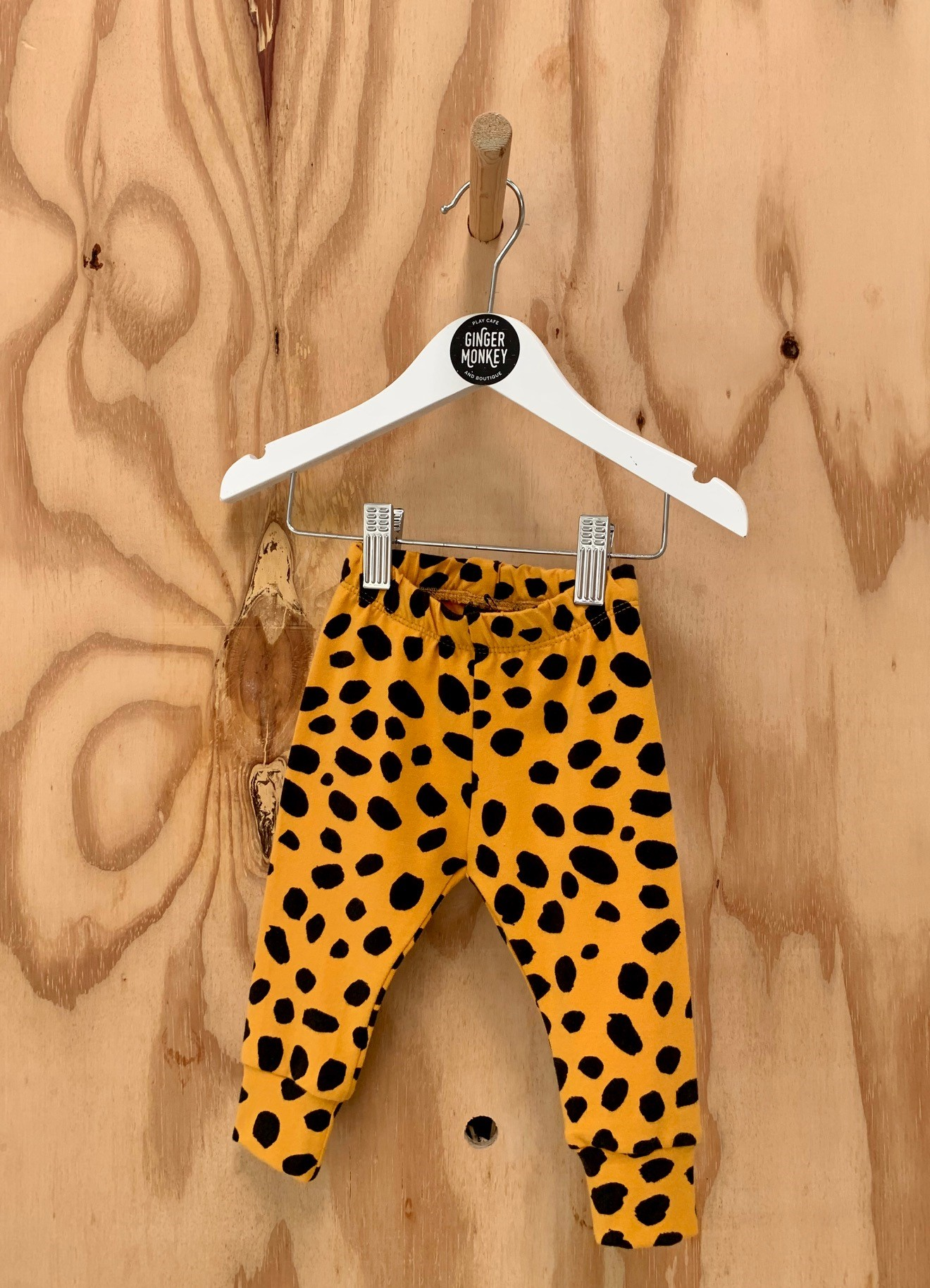 Lala Loop Mustard Leopard leggings