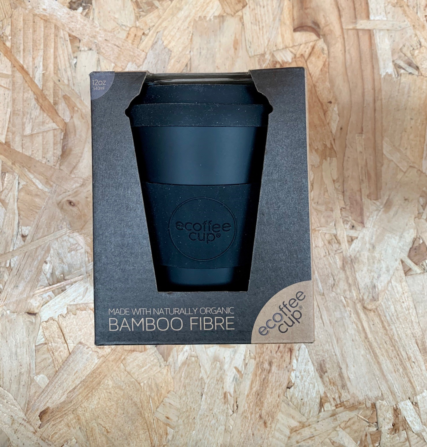 Ecoffee Cup - Black 12 oz