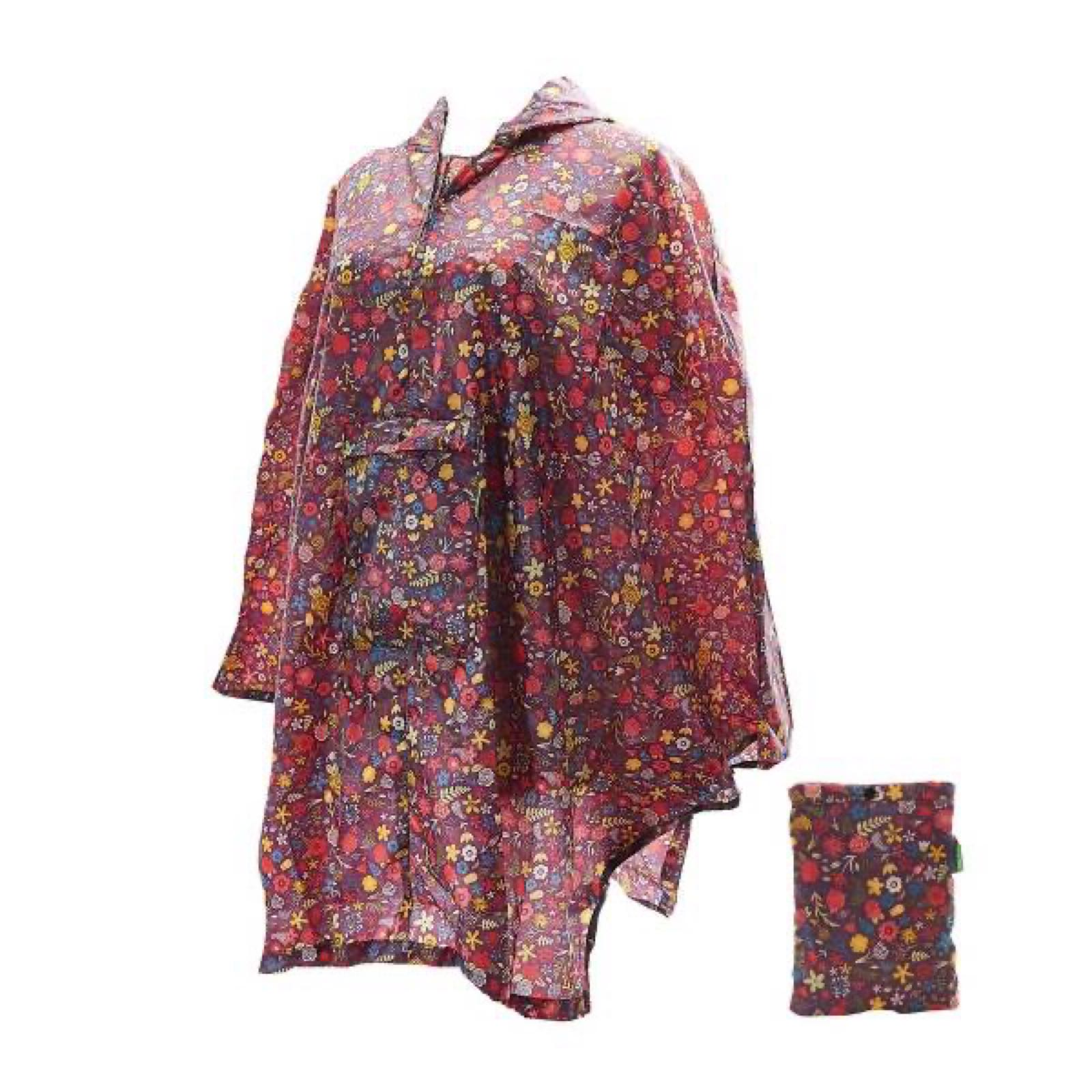 'Floral' Foldable Poncho