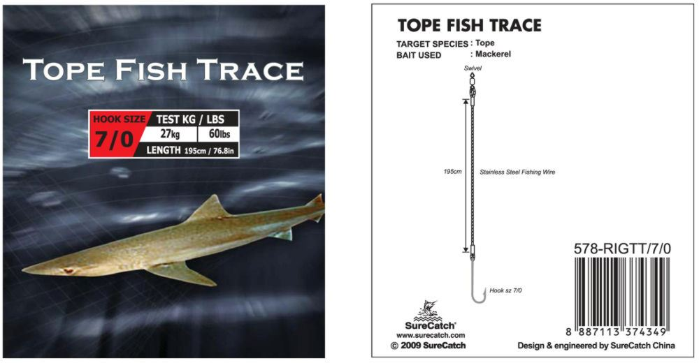 Dennett Tope Trace (Size 9/0)