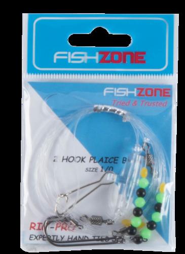 Fishzone 2 Hook Plaice Boat Rigs (Size 1/0)