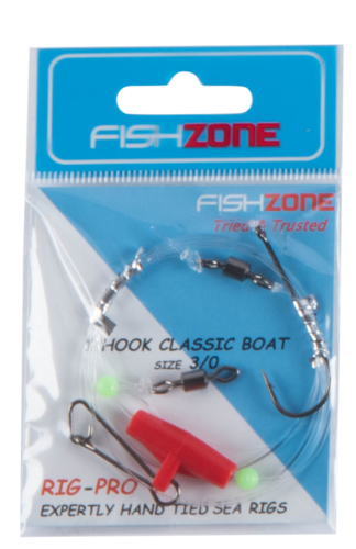 Fishzone 1 Hook Classic Boat Rig (Size 3/0)