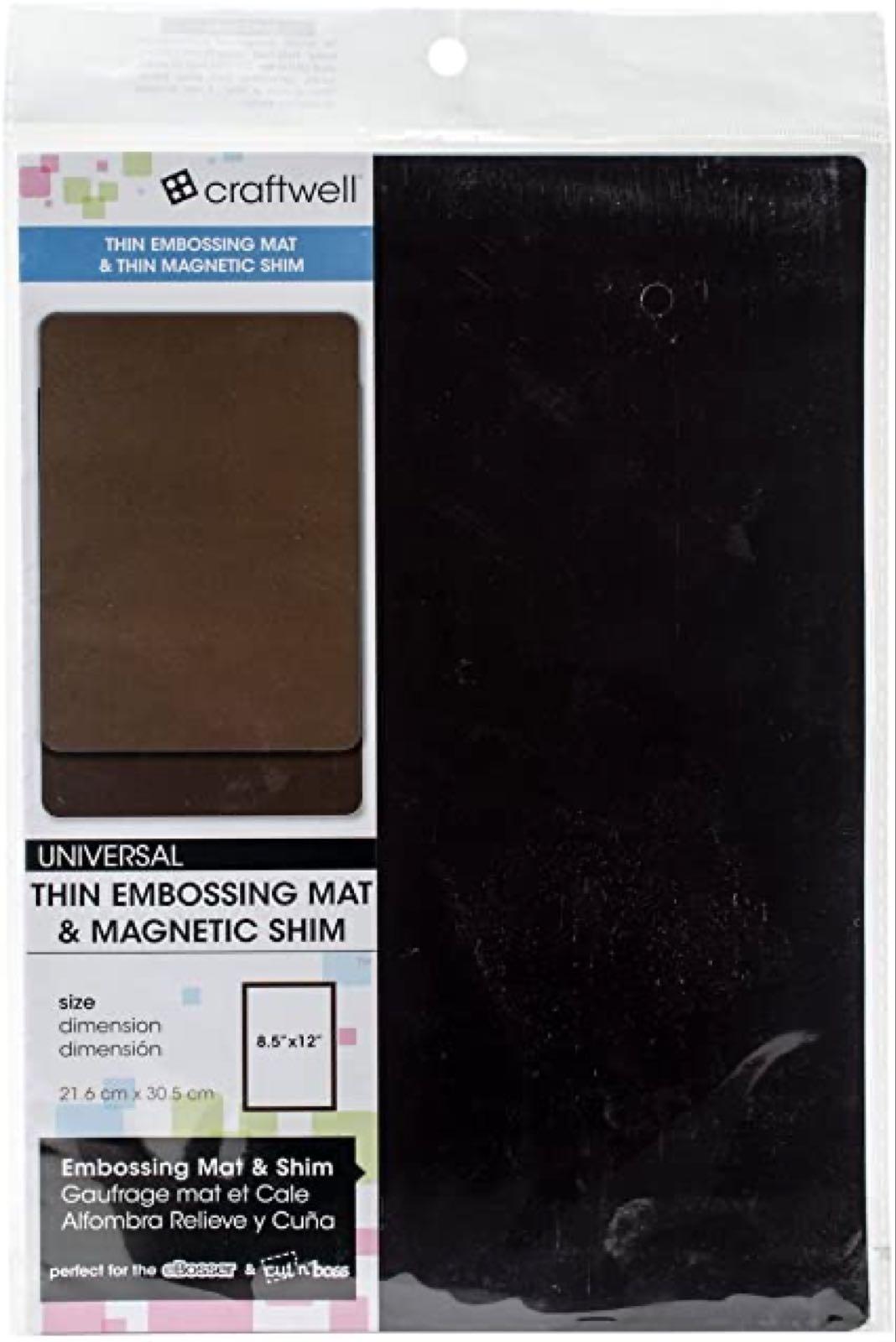 Thin  Embossing mat & thin magnetic shim