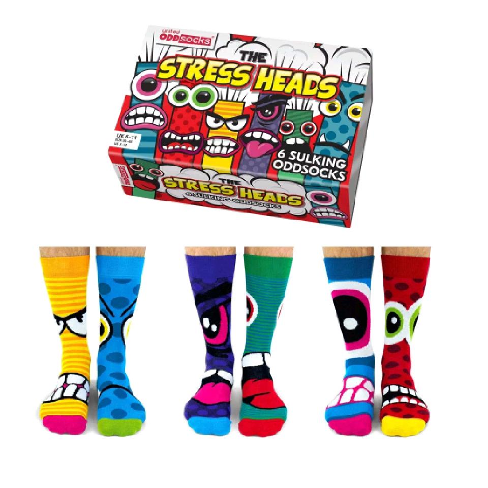Stress Heads Socks Gift Set
