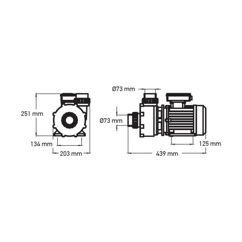 "Hierontapumppu hydro 5 HP 2,5"" (Viper)"