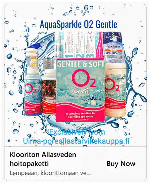 Aquasparkle Klooriton vedenhoitopaketti O2 Genttle