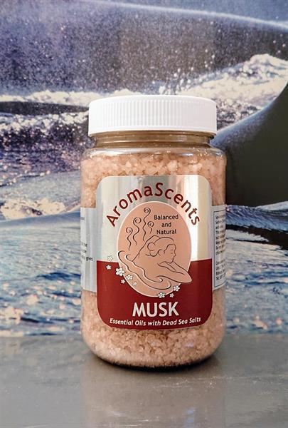 Aromaterapiahelmet Kuolleenmeren kylpysuola MUSK tuoksu 500g