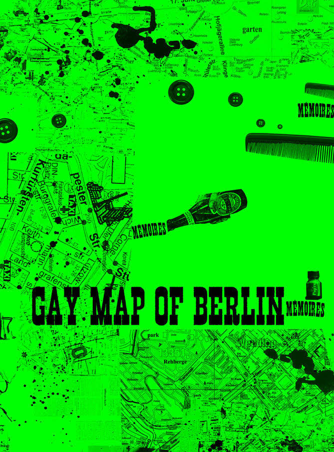Henrik Olesen  'Gay Map of Berlin' 2020 Offset print on day-glo paper