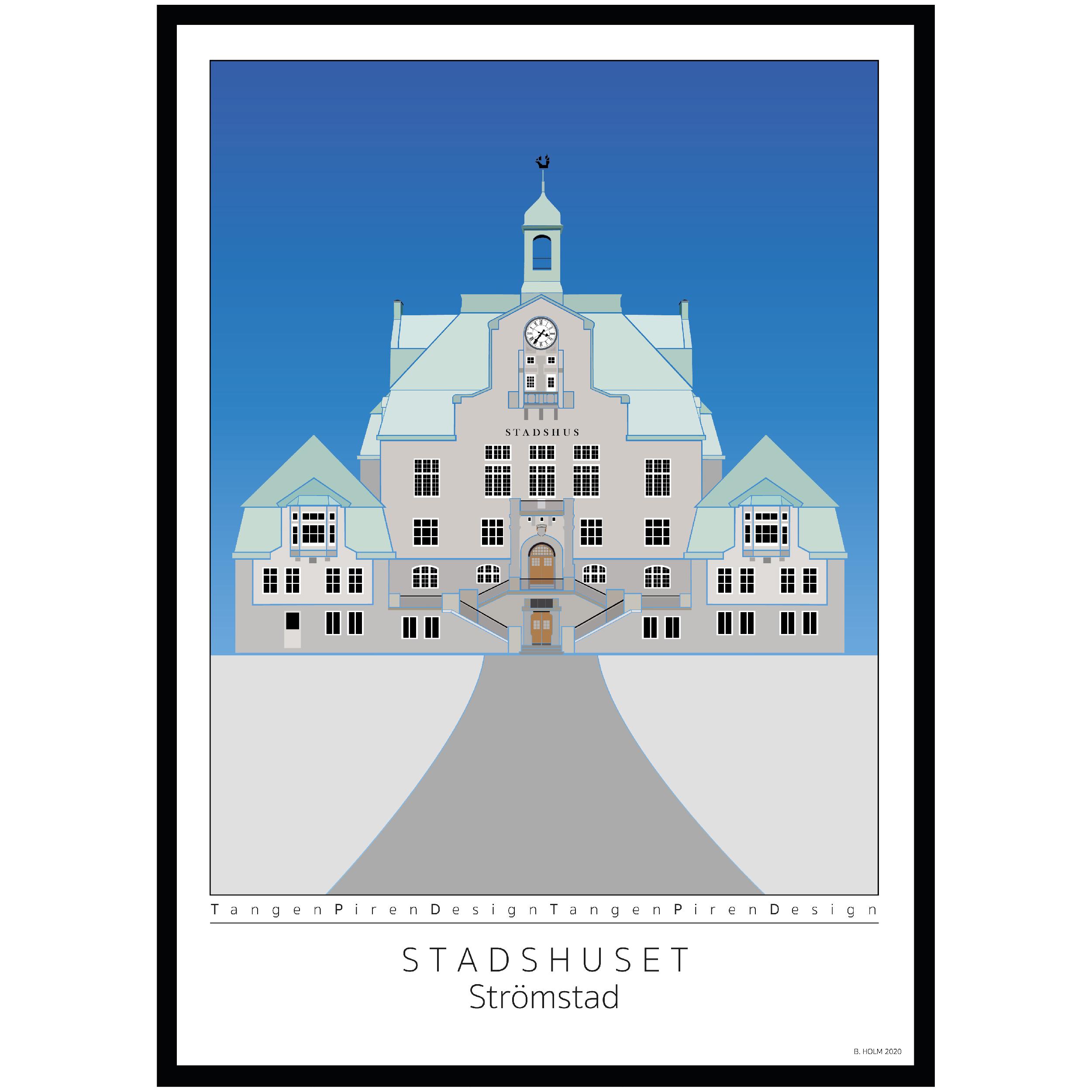 A024 Poster Strömstads Stadshus