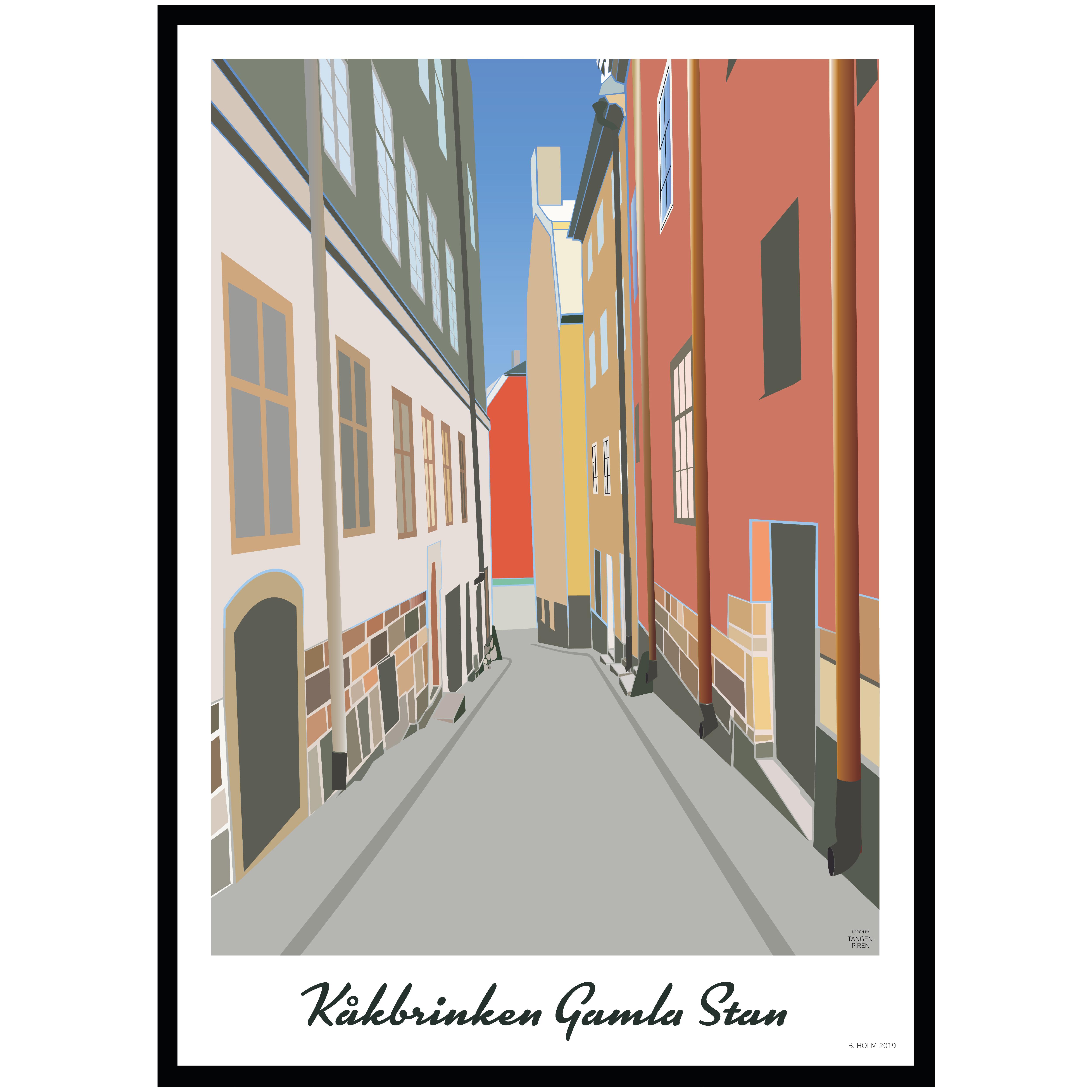 A012 Poster Stockholm Kåkbrinken