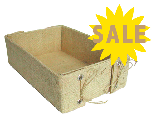 Jute & Water Hyacinth Box - SALE