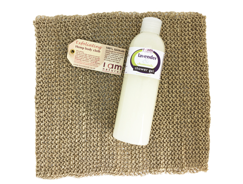 Shower Gel & Hemp Cloth Bundle
