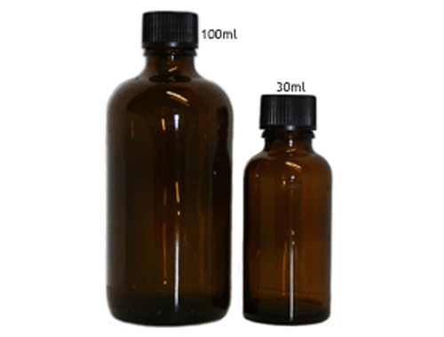 Amber Glass Bottles 30ml or 100ml