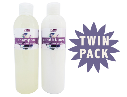 Organic Lavender & Rose Geranium Shampoo & Conditioner
