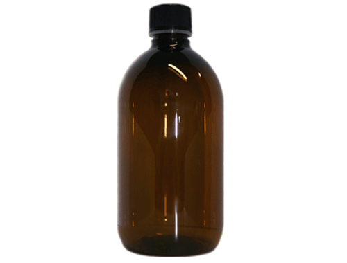 Amber PET bottle - 500ml