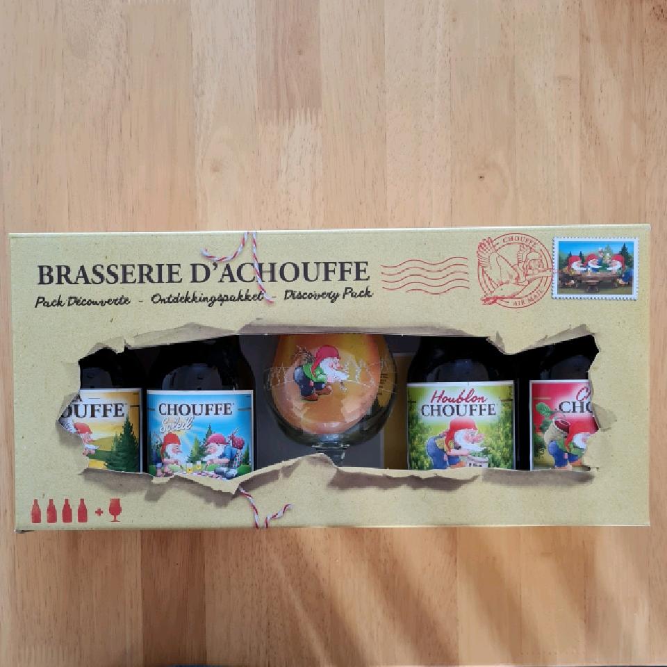 La Chouffe Discovery Gift Pack (4x 330ml bottles + glass)