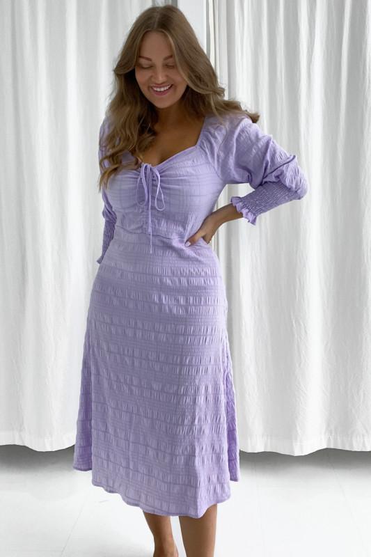 BYIC - Lang Viola kjole - Pastel lilla