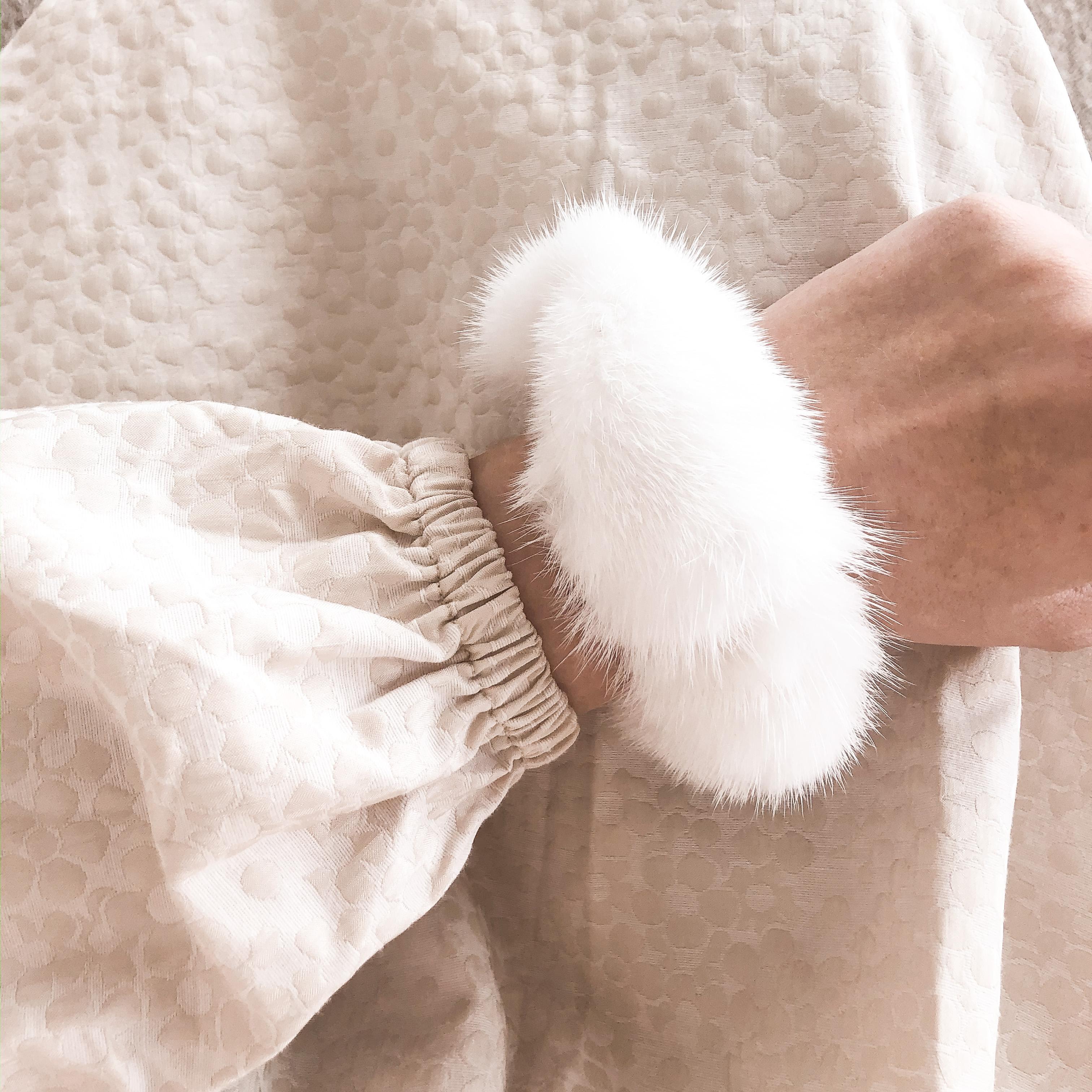 Hårelastik - Hvid Mink