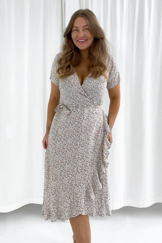 BYIC - Mille kjole - Beige multi blomsterprint