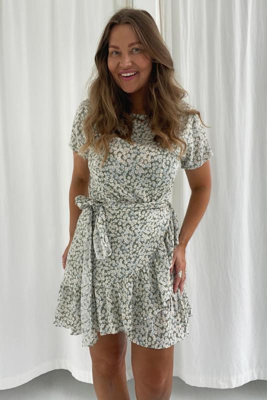 BYIC - Agnes kjole - Lyst grønt blomsterprint