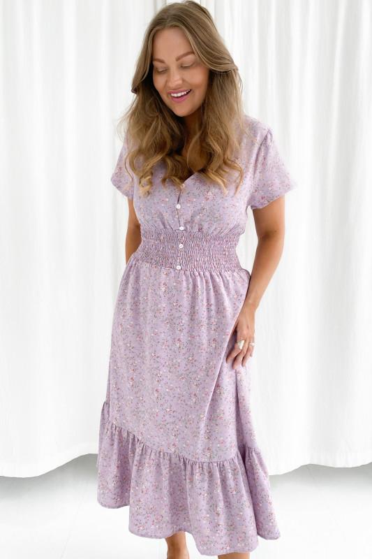 BYIC - Melinda kjole - Lilla blomsterprint