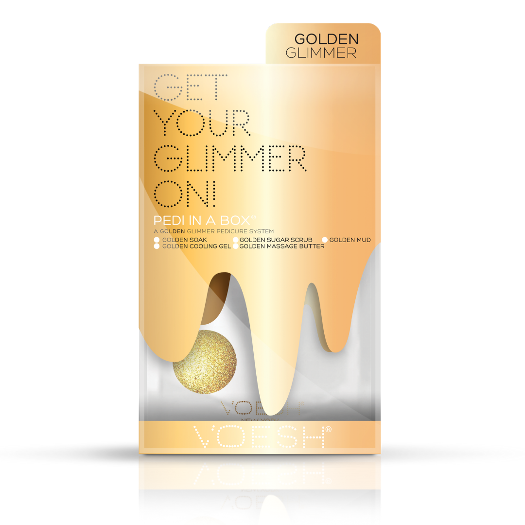 Voesh - Pedi in a box Get Your Glimmer On Gold