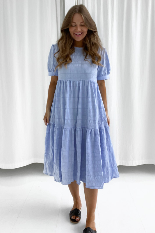 BYIC - Lang Vilma kjole - Lyseblå