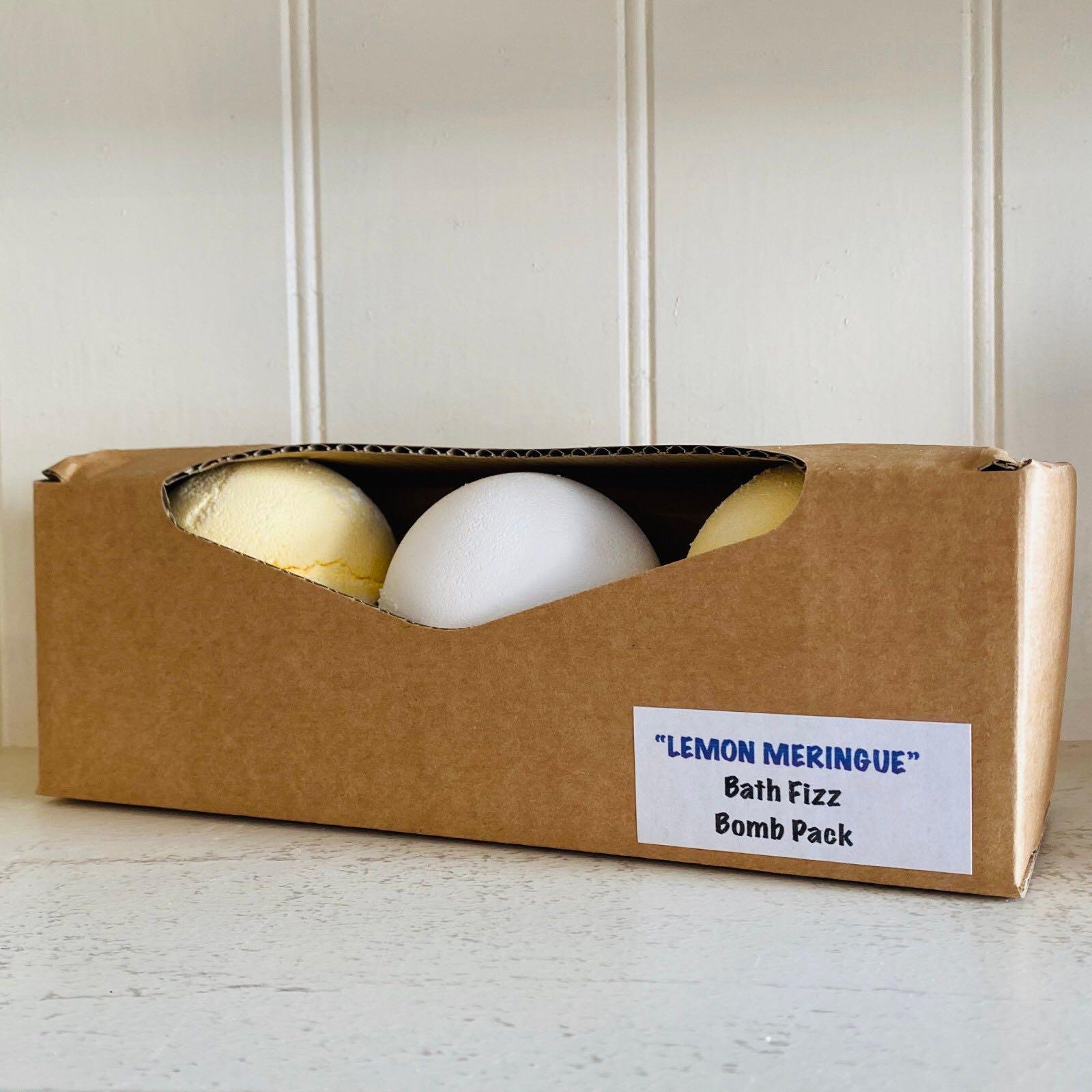 Lemon Meringue Bath Fizz Bomb Pack