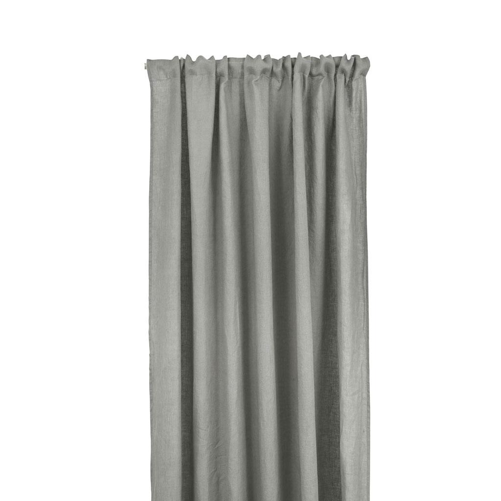 Gardinlængde hør 140x240/300cm Mellemgrå