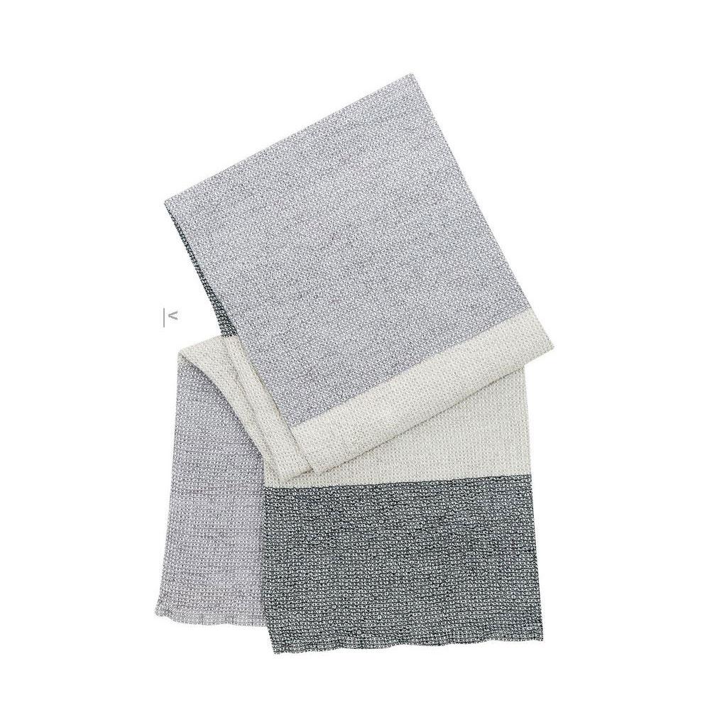 Håndklæde, Terva, Stribet grå/multi/sort